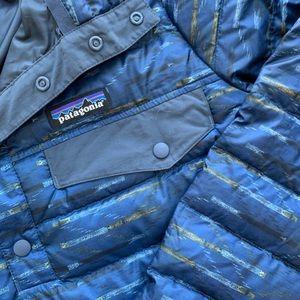 Patagonia womens down snap t jacket quar